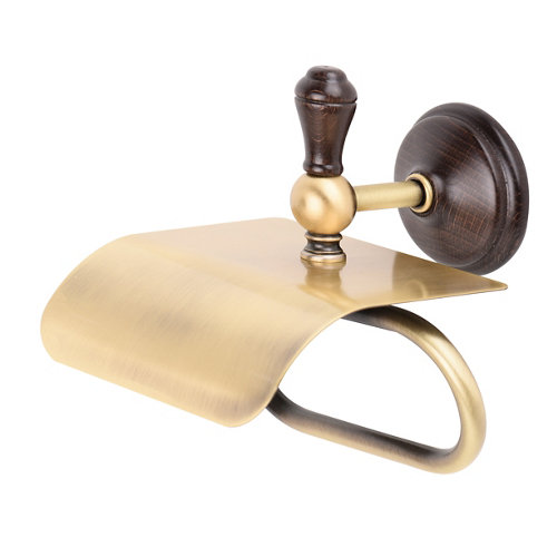 Portarollo wc viena dorado marrón mate 14x15,5x16 cm