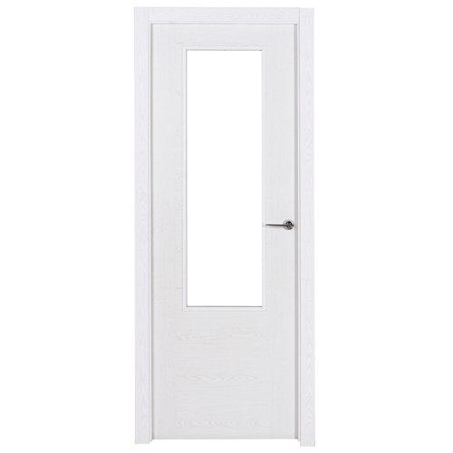 Puerta canarias blanco de apertura izquierda de 72.5 cm