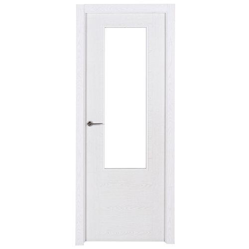 puerta canarias blanco de apertura derecha de 82.5 cm
