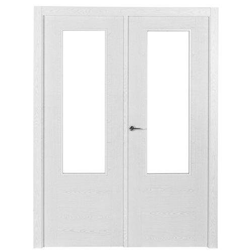 Puerta canarias blanco de apertura derecha de 125 cm