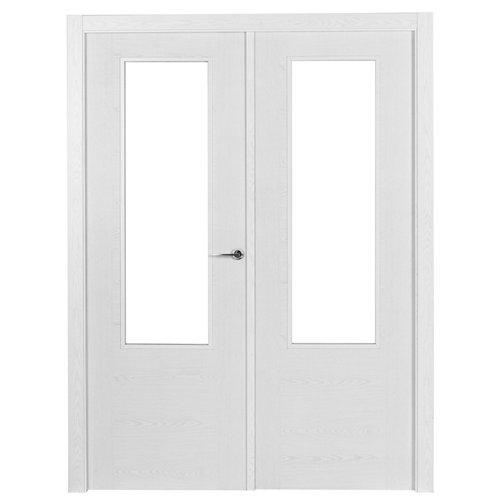 puerta canarias blanco de apertura izquierda de 145 cm