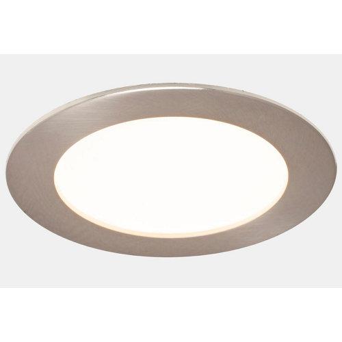 Foco downlight led inspire extraplano redondo níquel 5,5w