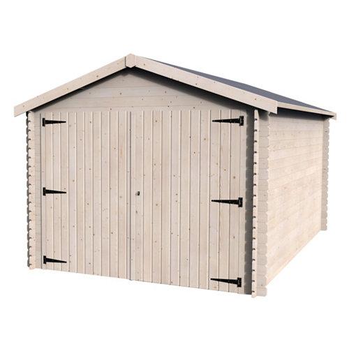 Garaje de madera gamache para 1 coche (menos de 15 m²) de 298 x 256 x 495 cm
