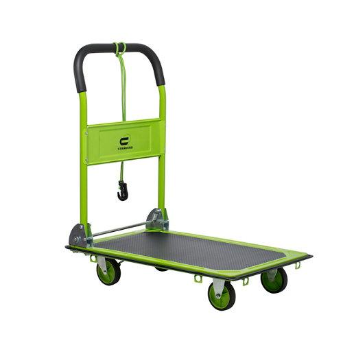 Carro plataforma con ruedas macizas de 47x73 cm y 150 kg máx