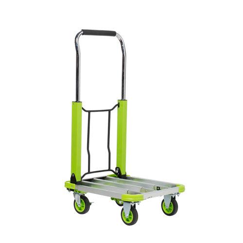 Carro plataforma con ruedas macizas de 42.0x71.0 cm y 150 kg máx