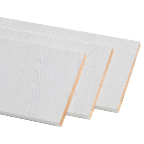 Pack de 3 molduras mdf blanco 50 x 10 mm