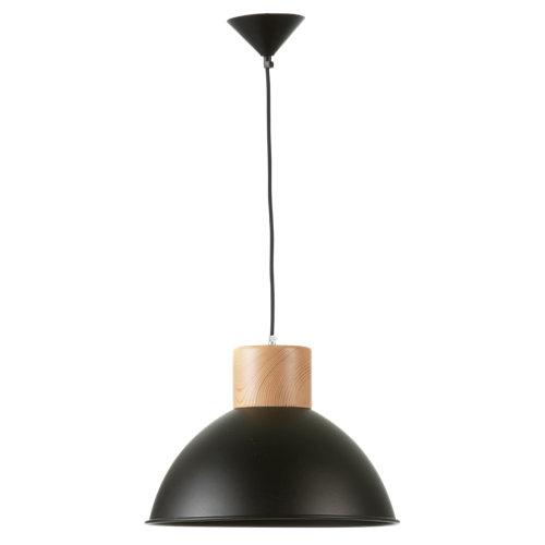 Lámpara de techo kiram negra 1 luz