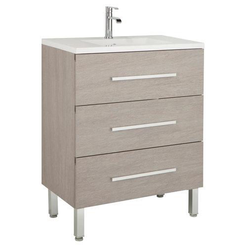 Mueble de baño madrid roble gris 60 x 45 cm