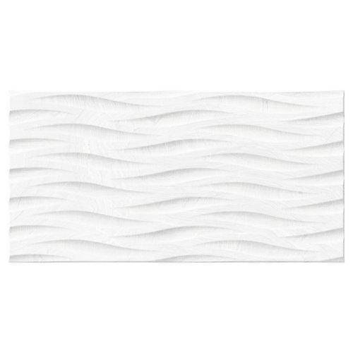 Azulejo cerámico varana 32x62,5 decorado blanco