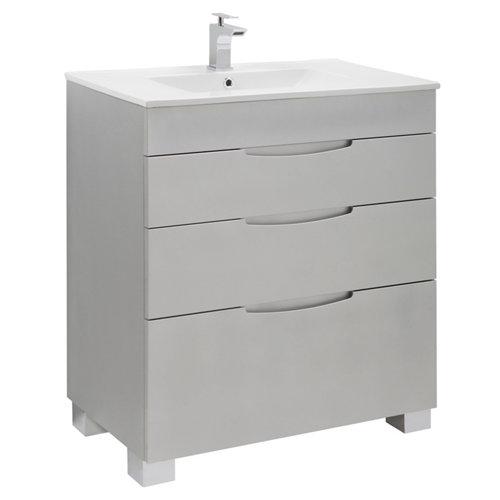 Mueble de baño asimétrico plata 70 x 45 cm