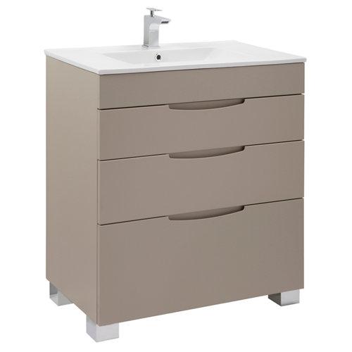 Mueble de baño asimétrico moka 70 x 45 cm