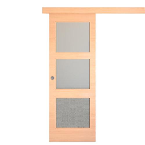 Puerta de interior corredera berna haya de 62.5 cm