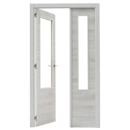 puerta oslo roble de apertura izquierda de 125 cm