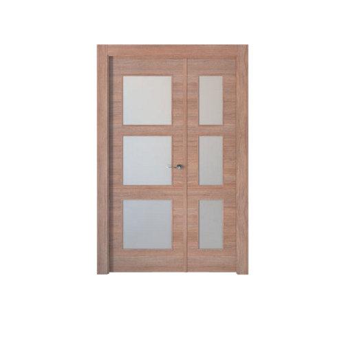 puerta berna nogal de apertura izquierda de 125 cm