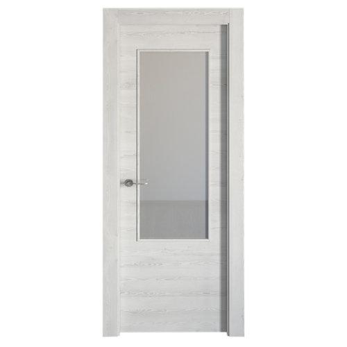 Puerta oslo blanco de apertura derecha de 72.5 cm
