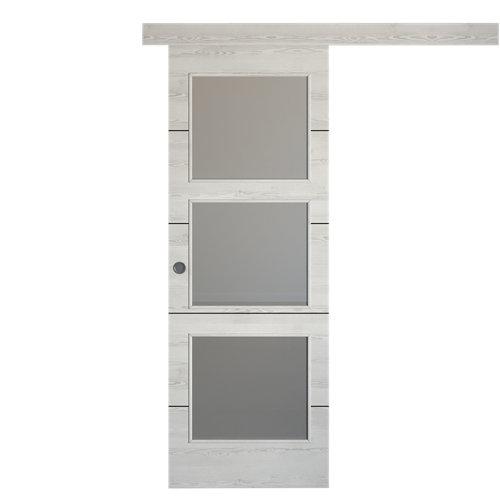 Puerta de interior corredera berna blanco de 72.5 cm