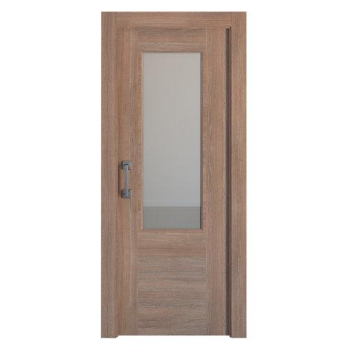 Puerta de interior corredera oslo nogal de 82.5 cm