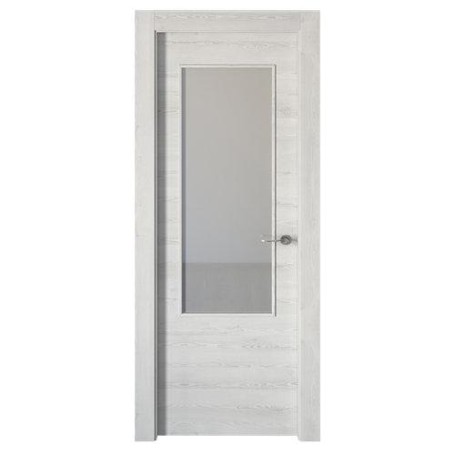 Puerta oslo blanco de apertura izquierda de 72.5 cm