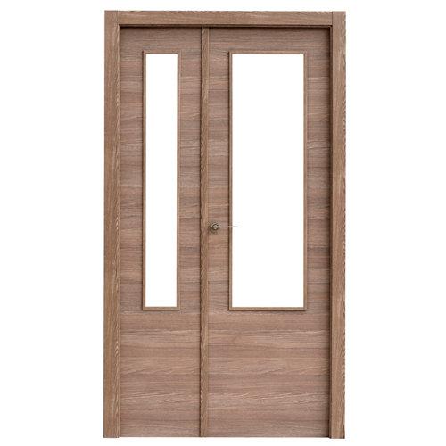 puerta oslo nogal de apertura derecha de 115 cm