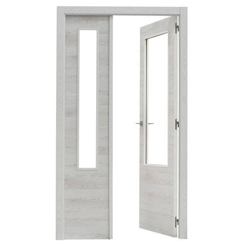 puerta oslo blanco de apertura derecha de 105 cm