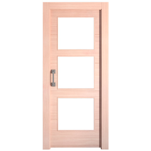 Puerta de interior corredera berna roble de 62.5 cm