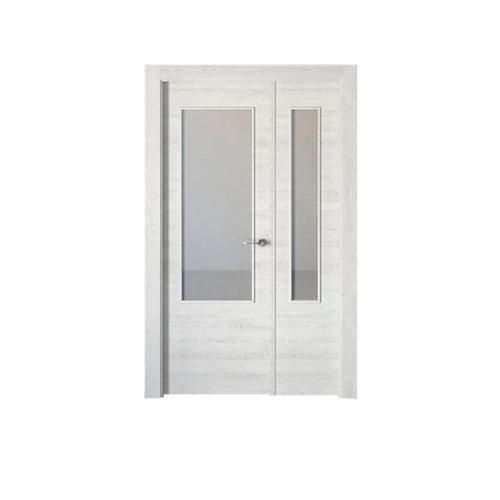 puerta oslo blanco de apertura izquierda de 105 cm