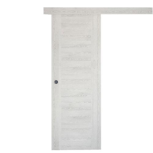 Puerta de interior corredera oslo blanco de 62.5 cm