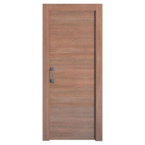 Puerta de interior corredera oslo nogal de 72.5 cm