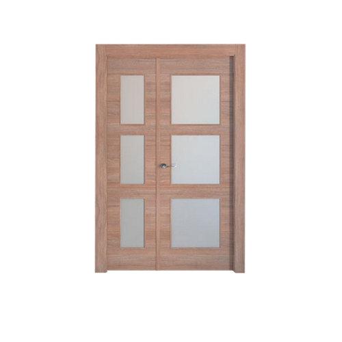 puerta berna nogal de apertura derecha de 115 cm