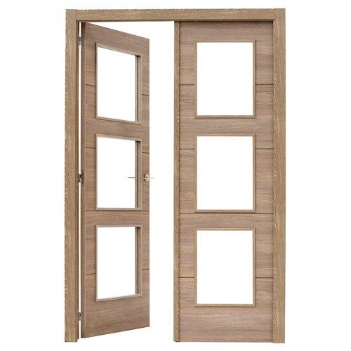 puerta berna nogal de apertura izquierda de 145 cm