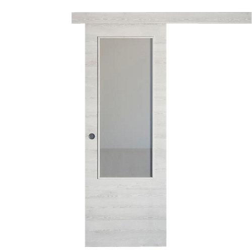 Puerta de interior corredera oslo blanco de 82.5 cm
