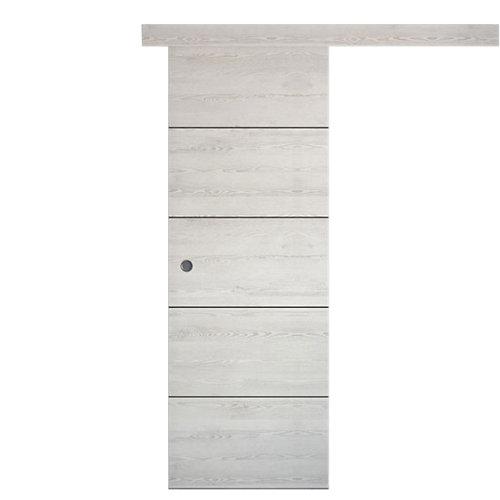Puerta de interior corredera berna blanco de 82.5 cm