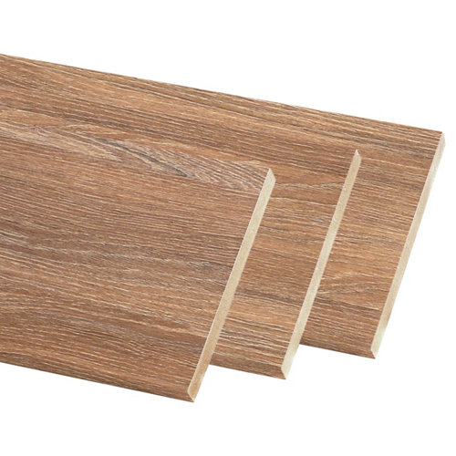 Kit de 3 molduras mdf nogal 90 x 10 mm