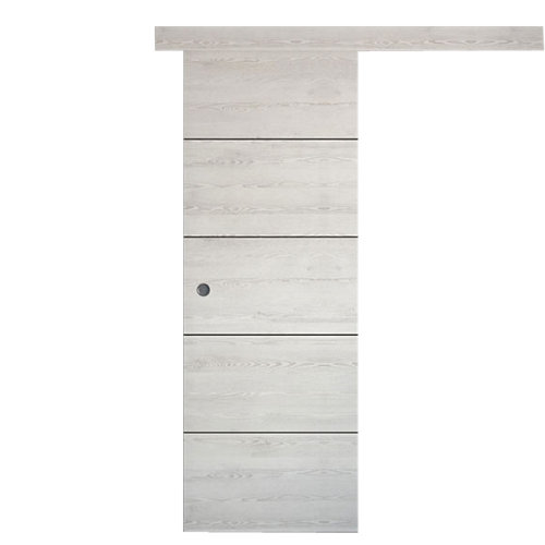 Puerta de interior corredera berna blanco de 62.5 cm