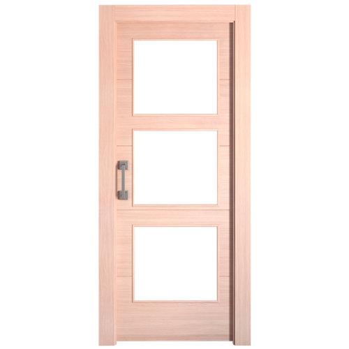 Puerta de interior corredera berna roble de 72.5 cm