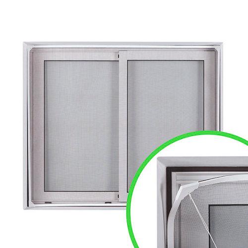 Mosquitera fija flexible de marco magnético blanco de 120x120cm (ancho x alto)