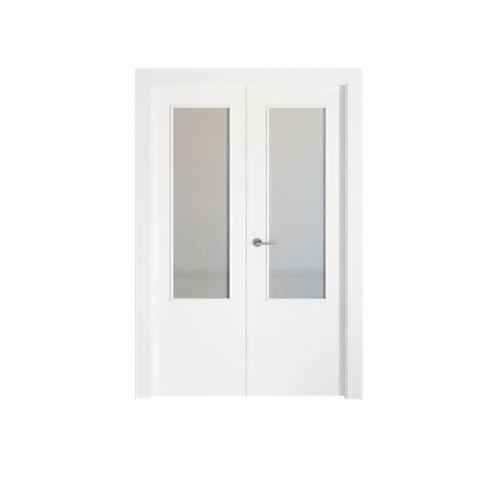 puerta bari blanco de apertura derecha de 145 cm