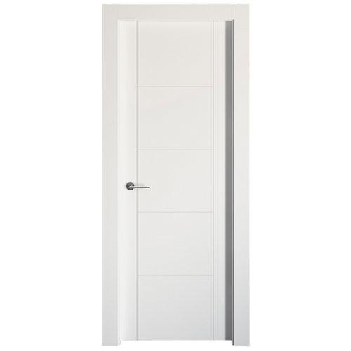 Puerta noruega plus blanco de apertura derecha de 72.50 cm