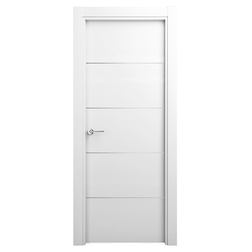 Puerta parís blanco de apertura derecha de 72,5 cm