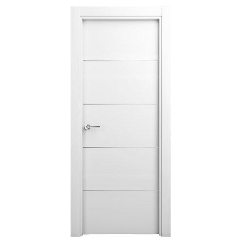 Puerta abatible parís blanca derecha 82,5 cm