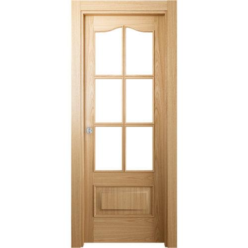 Puerta de interior corredera roma roble de 72.5 cm