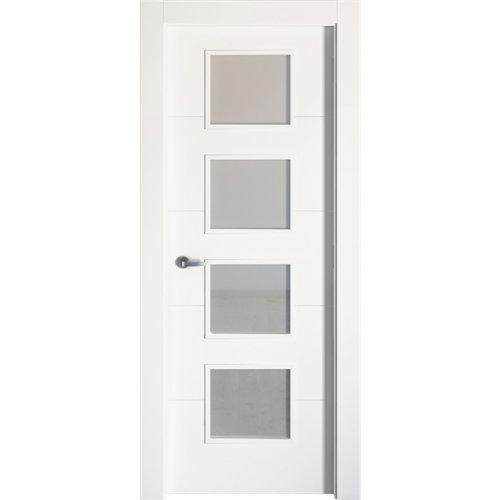 Puerta lucerna plus blanco de apertura derecha de 72.5 cm