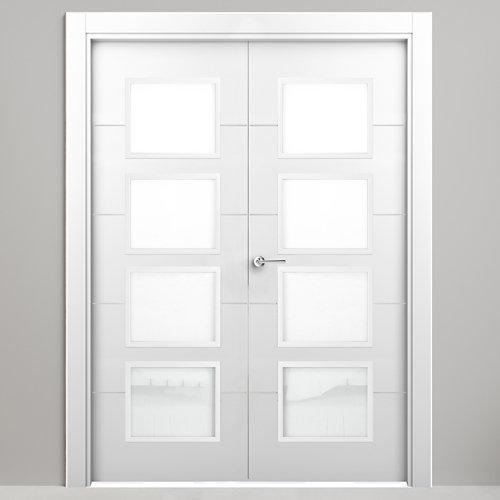 Puerta parís blanco de apertura derecha de 125.00 cm