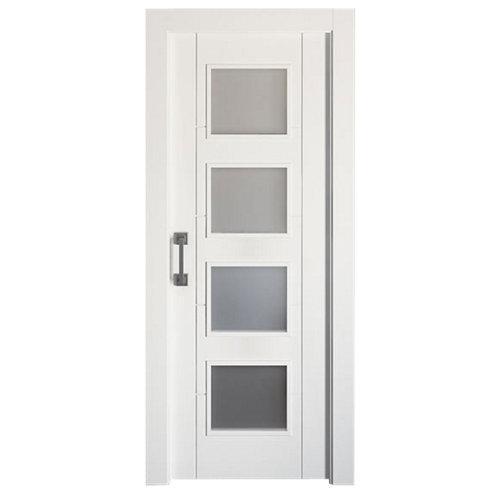 Puerta de interior corredera noruega plus blanco de 82.5 cm