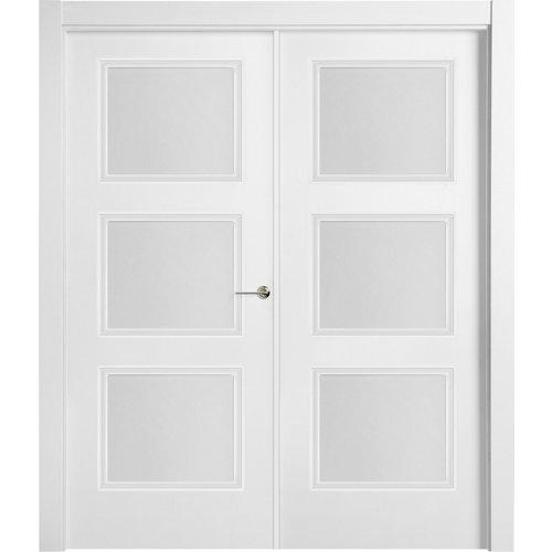 puerta mónaco blanco de apertura izquierda de 145 cm