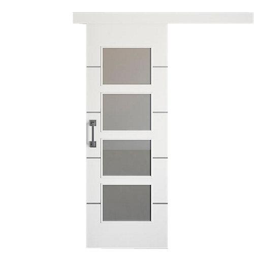 Puerta de interior corredera paris blanco de 72.5 cm
