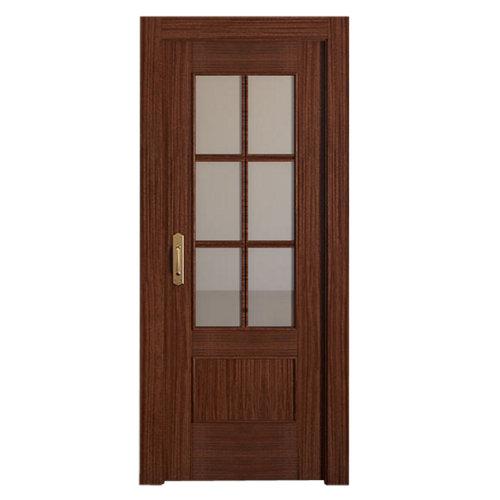 Puerta de interior corredera atenas sapelly de 72.5 cm
