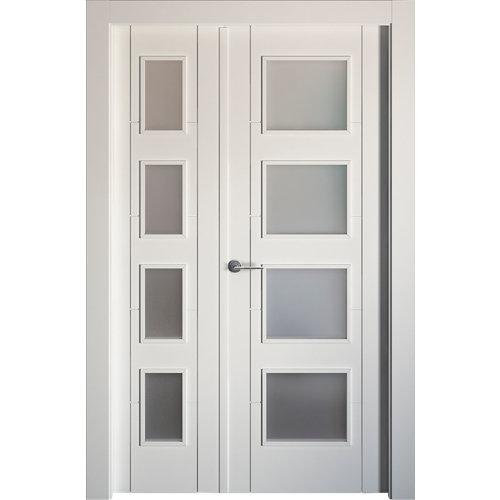 puerta noruega plus blanco de apertura derecha de 115 cm