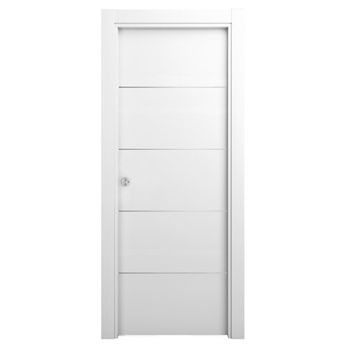 Puerta blanco de apertura derecha de cm