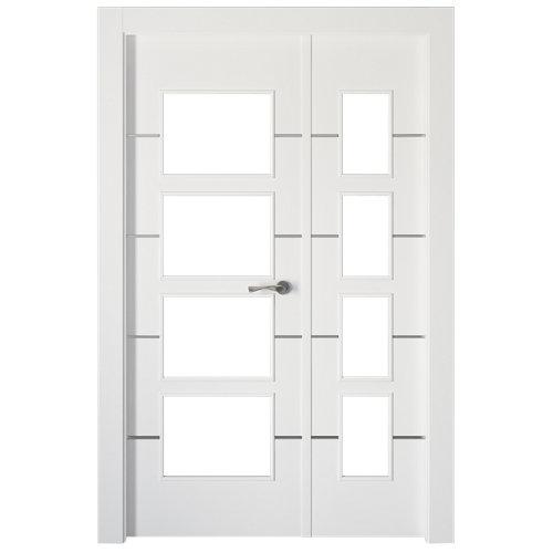 Puerta parís blanco de apertura izquierda de 105.00 cm